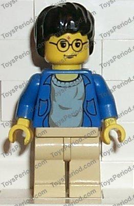 Minifigure Tan Legs Lego Blue Open Shirt Torso Harry Potter hp004