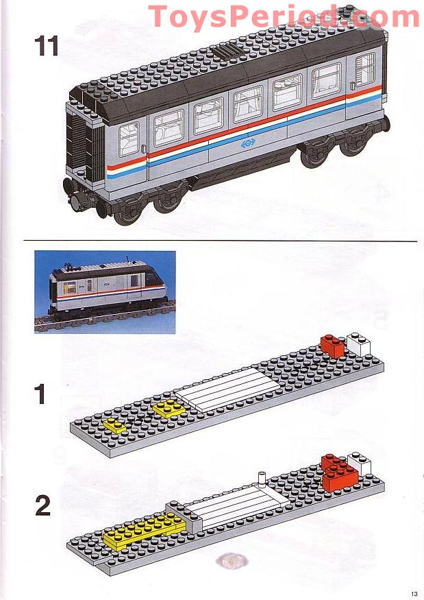 Lego 10001 Metroliner Set Parts Inventory And Instructions