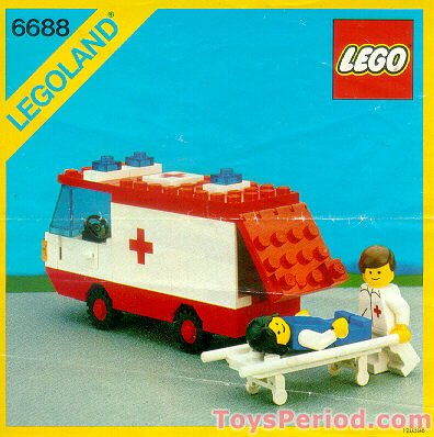 Lego 6688 Ambulance Set Parts Inventory And Instructions