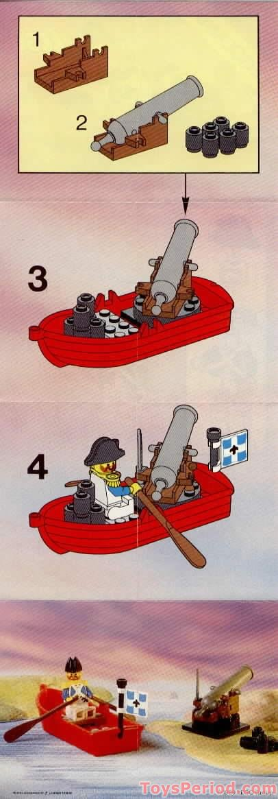 LEGO 6245 Harbor Sentry Set Parts Inventory and ...