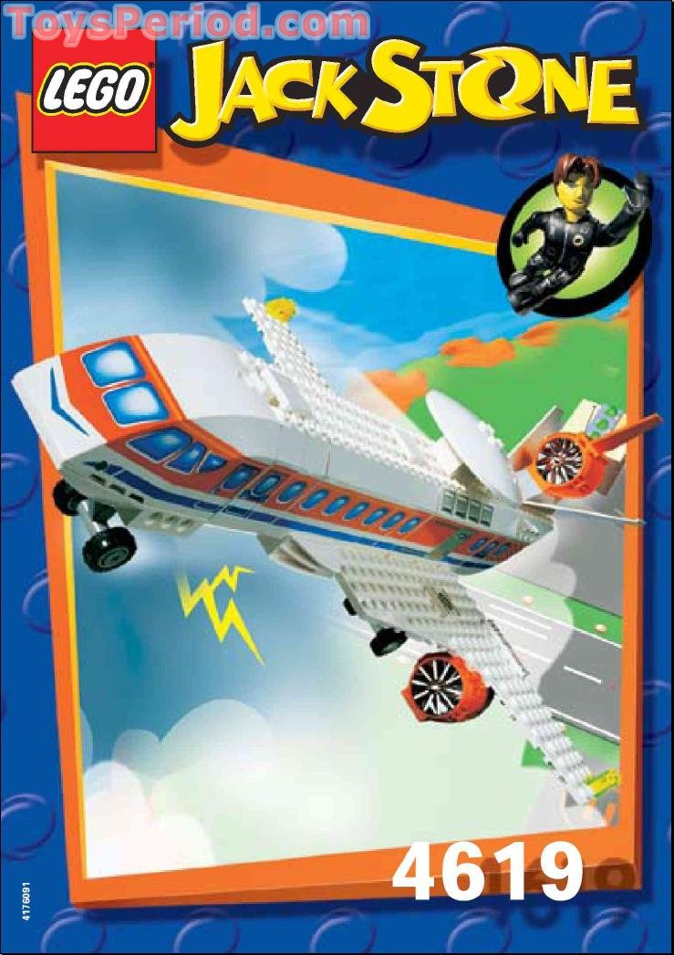 Lego 4619 A I R Patrol Jet Set Parts Inventory And