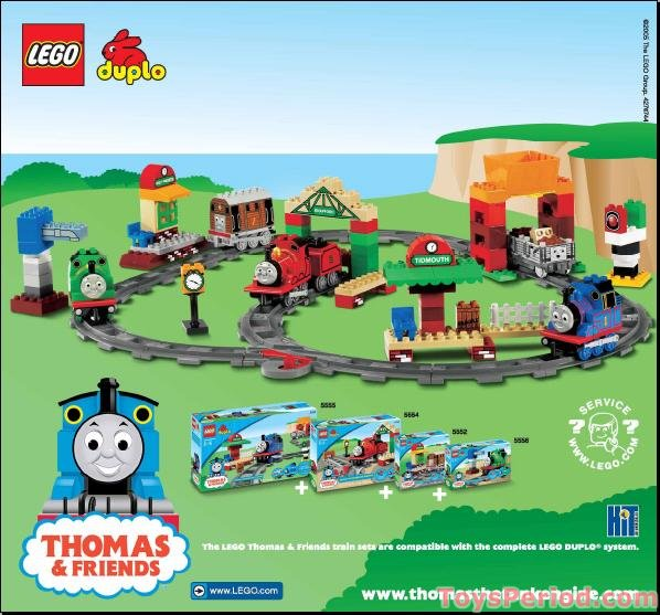 Lego 5554 Thomas Load And Carry Train Set Set Parts Inventory And