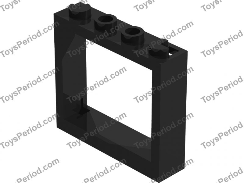 lego part window 1 x 4 x 3 without shutter tabs no