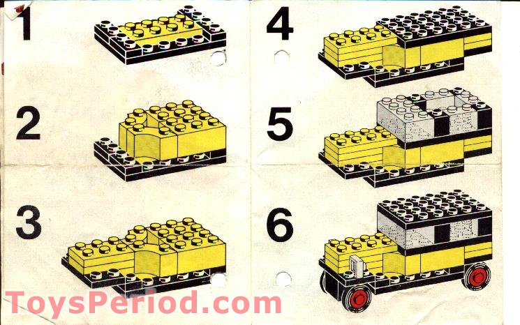 Lego 603 3 Legoland Vintage Car Set Parts Inventory And Instructions