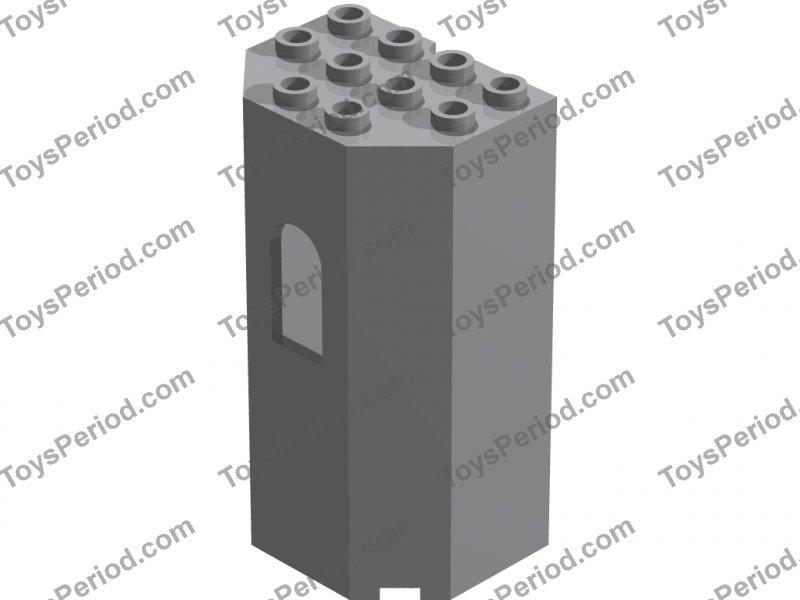 Lego 30246 Panel 3 x 4 x 6 Turret Wall with Window Black Castle