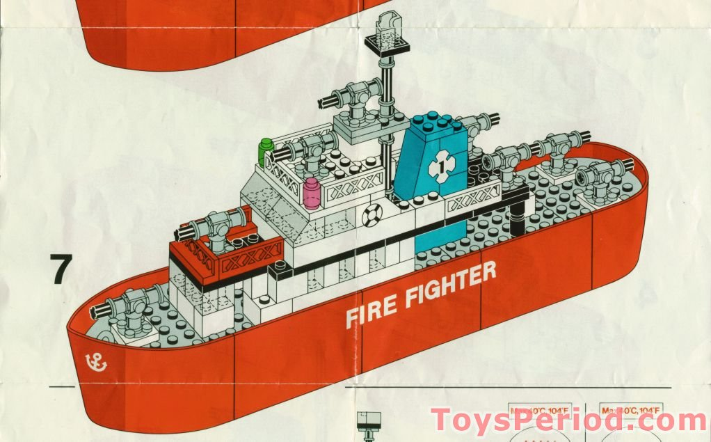 LEGO 775 Fire Fighter Ship Set Parts Inventory and ...