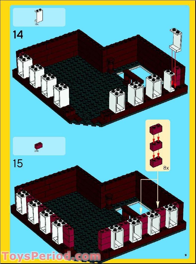 lego cafe corner instructions
