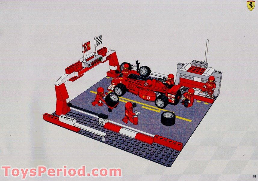Lego 8375 Ferrari F1 Pit Stop Set Parts Inventory And Instructions