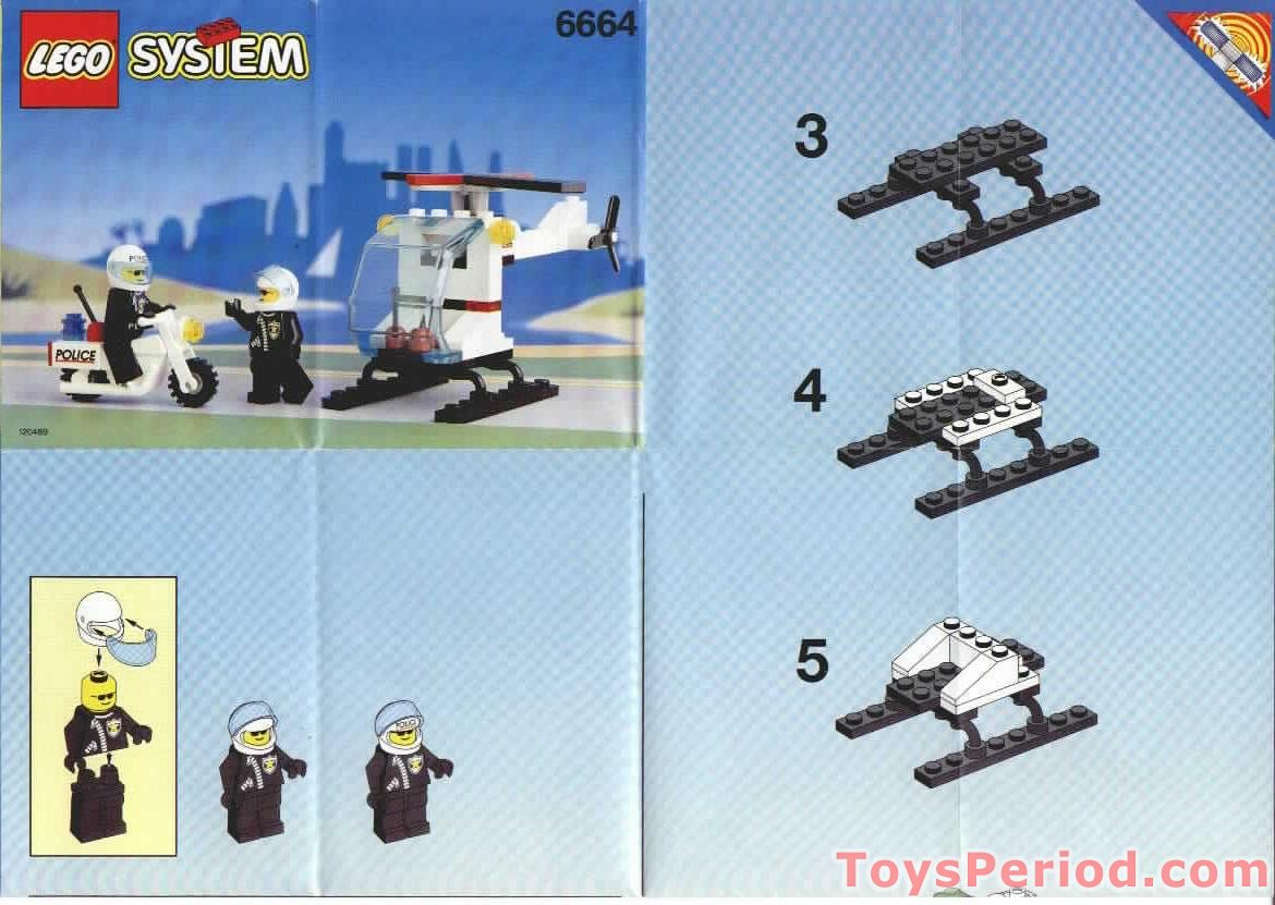 Lego 6664 Chopper Cops Set Parts Inventory And