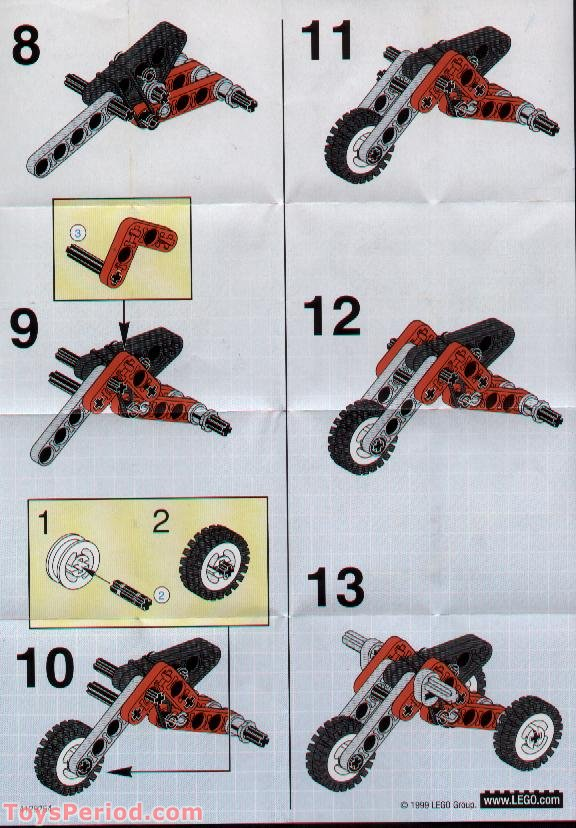 LEGO 1257-1 Trike Buggy Set Parts Inventory and ...