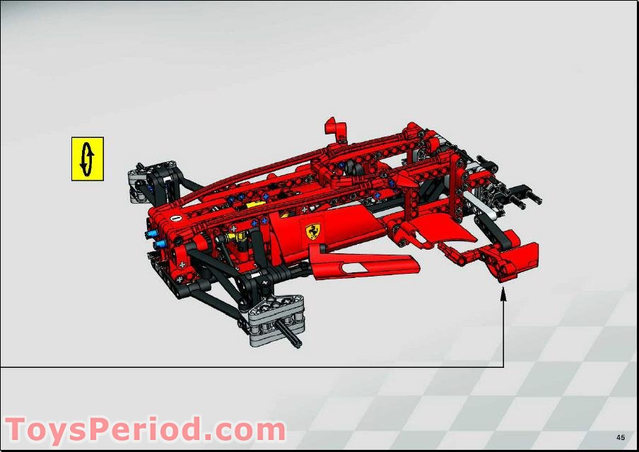 Small Hole Technic Lego Fairing #24 Small Short part no 47712 Side B in Red
