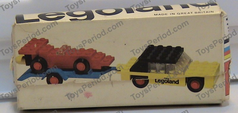 LEGO 650-1 Car with Trailer and Racing Car Image 3