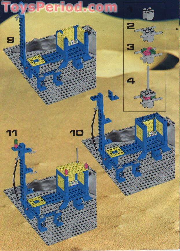Lego 483 1 Alpha 1 Rocket Base Set Parts Inventory And