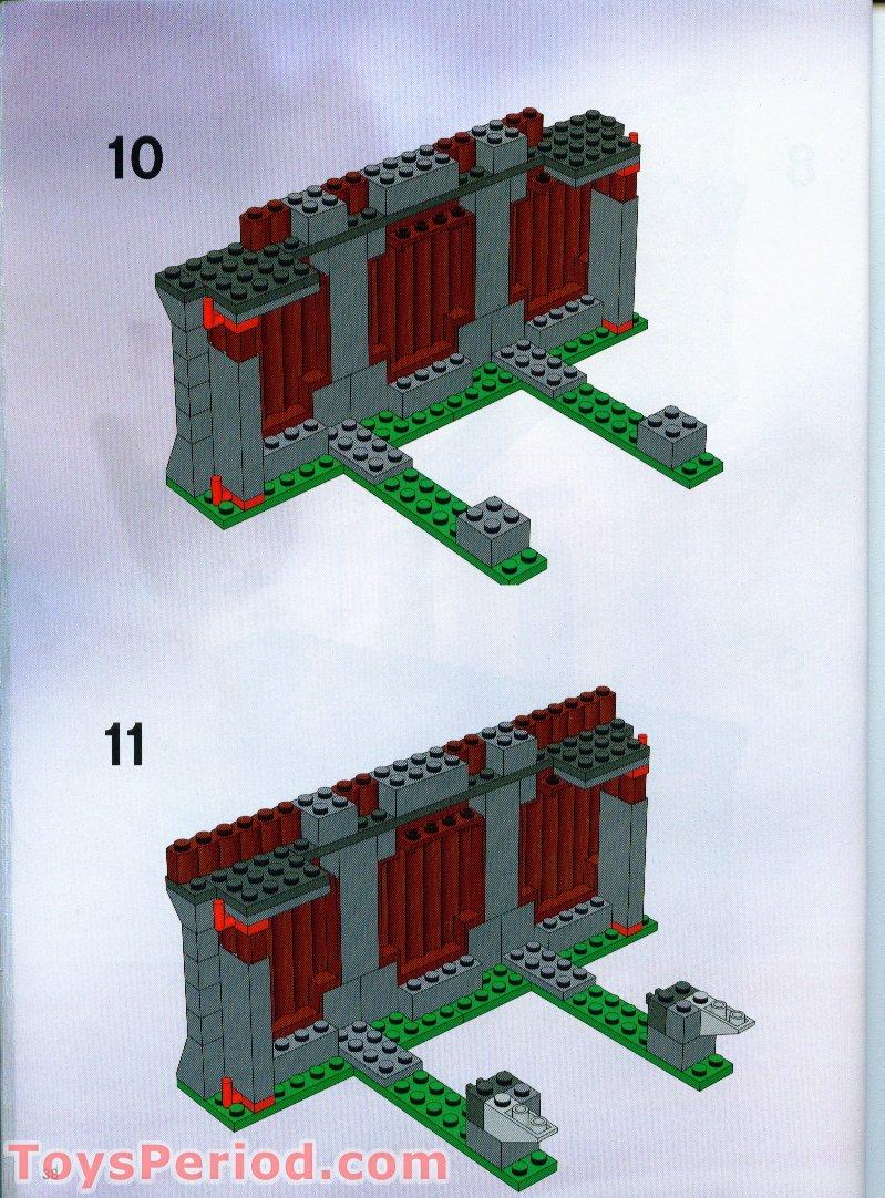 Lego 7019 Viking Fortress Against The Fafnir Dragon Set
