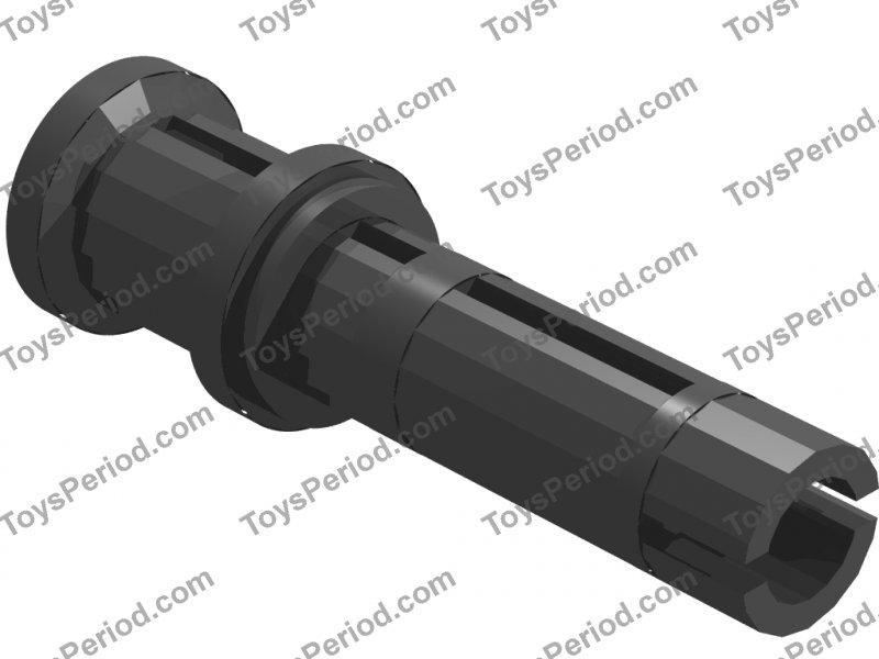 LEGO Parts~6 Technic Pin Long w Ridges Lengthwise /& Stop Bush LT GRAY 32054