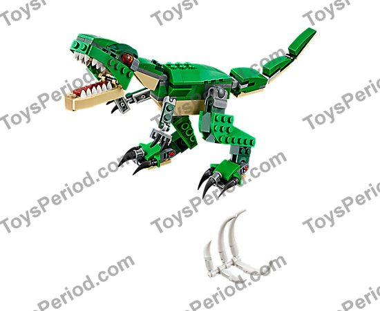LEGO PART 40379 WHITE DINOSAUR TAIL END SECTION X2 PCS