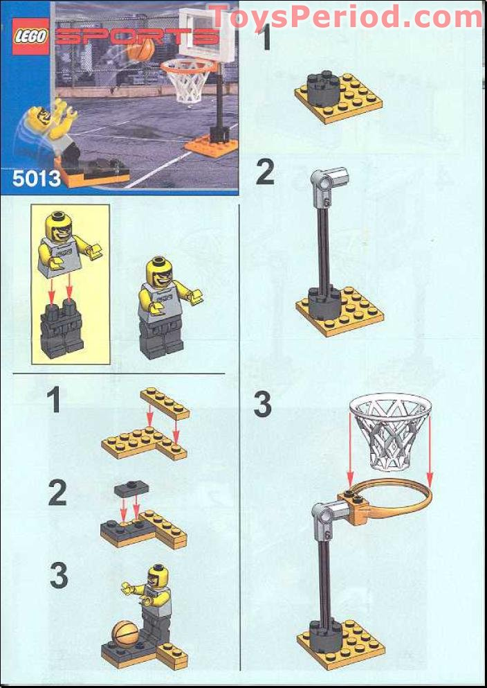 Lego 5013 Basketball Free Throw Set Parts Inventory And