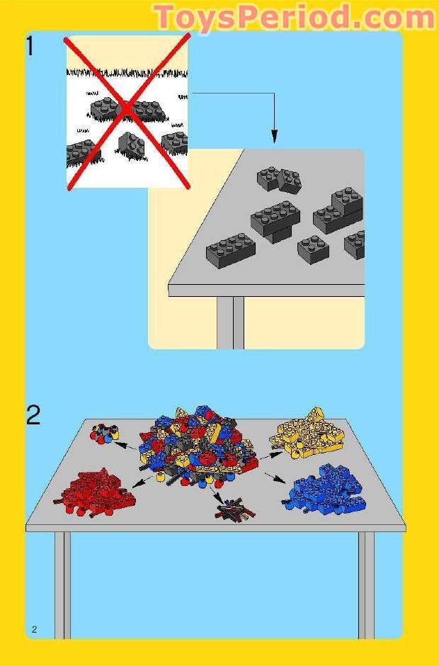 Lego 5585 Pink Brick Box Set Parts Inventory And Instructions Lego