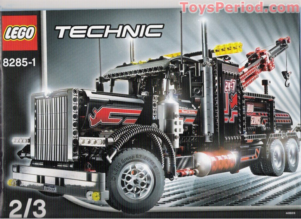 New Lego Technic 2018 >> LEGO 8285 Tow Truck Set Parts Inventory and Instructions - LEGO Reference Guide