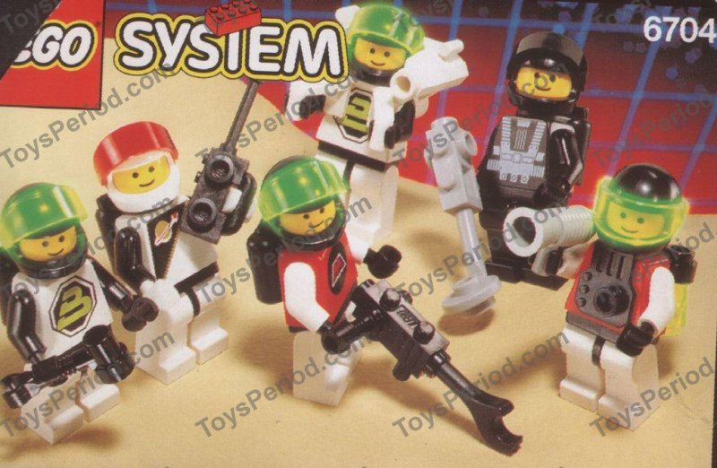 LEGO 6704 Space Minifigures Set Parts Inventory and Instructions ...