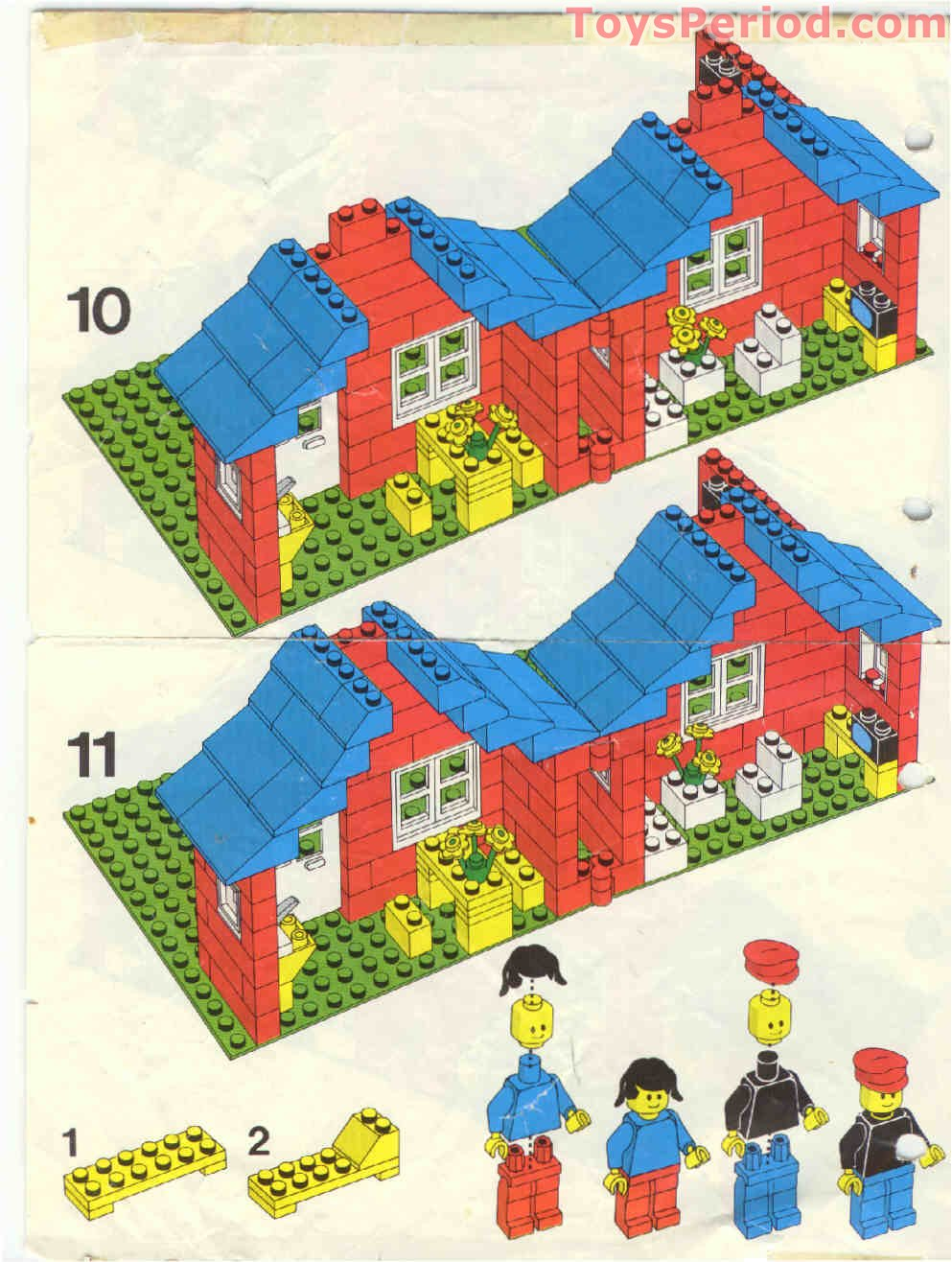 Lego 376 2 Town House With Garden Set Parts Inventory And