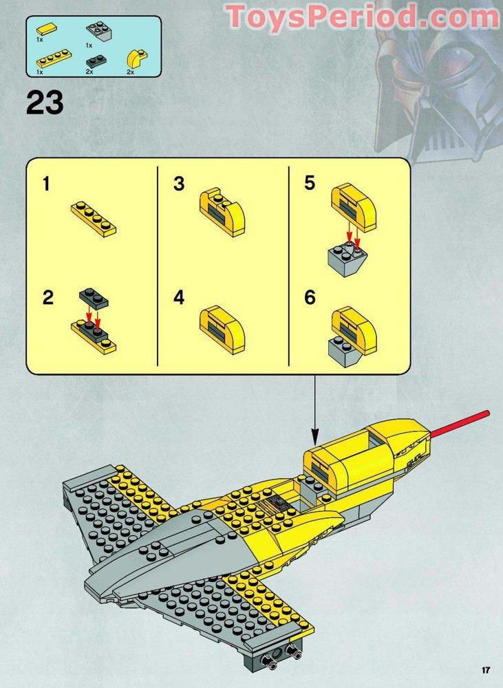 set 7660  Naboo N-1 Lego STAR WARS MdStone wedge ref 50955 /& 50956 Stickers