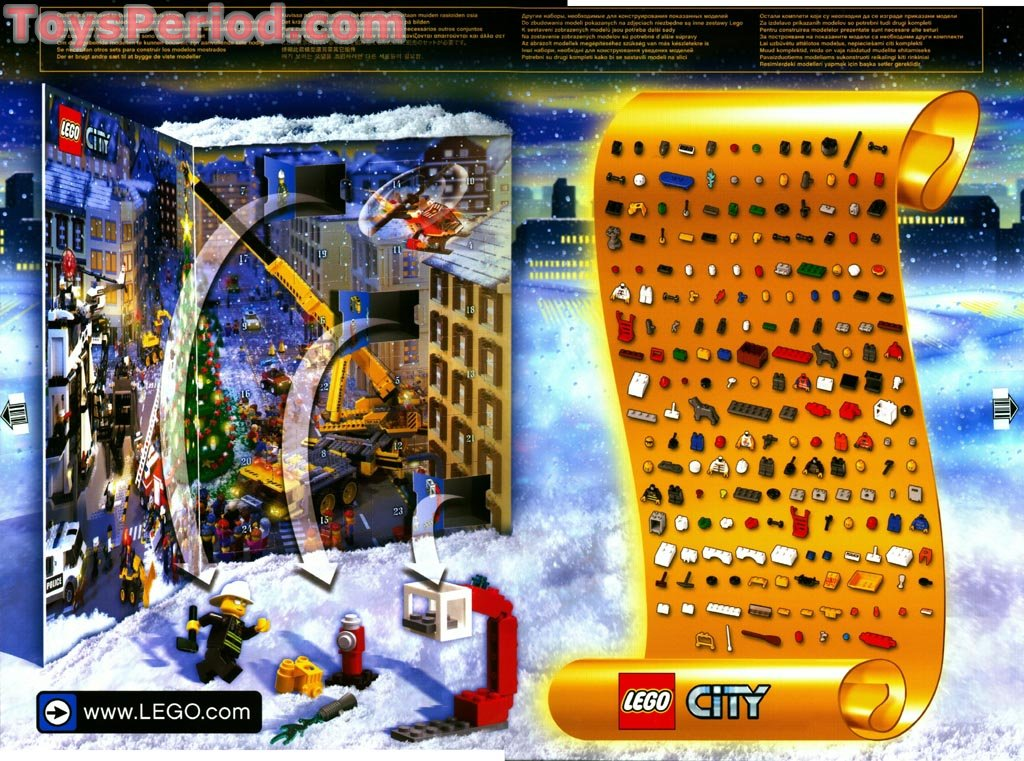 LEGO 7324-1 Advent Calendar 2005, City Set Parts Inventory and ...