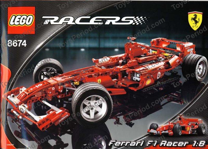 Lego 8674 Ferrari F1 Racer Instructions