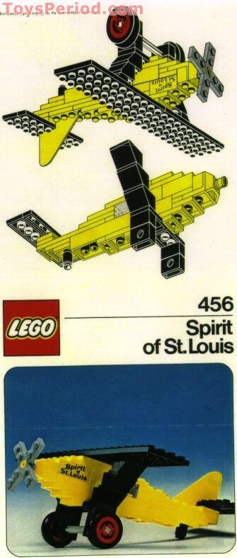 LEGO 456-1 Spirit of St  Louis Set Parts Inventory and Instructions