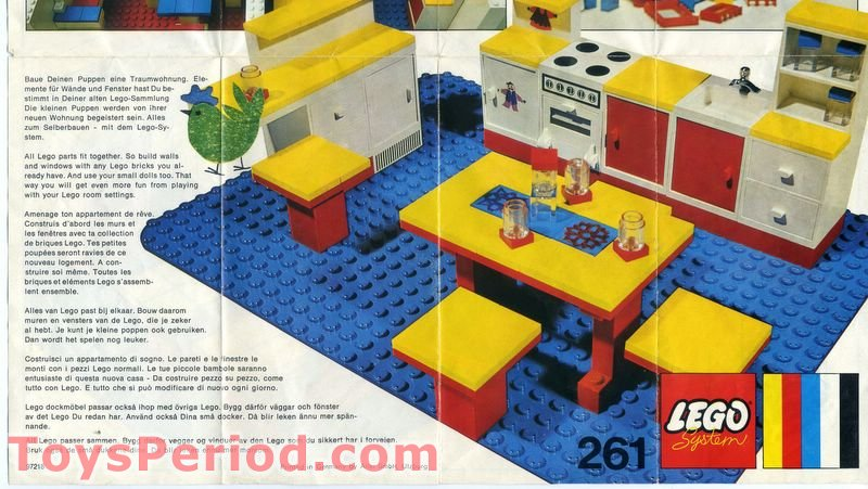 Lego 261 4 Complete Kitchen Set Set Parts Inventory And