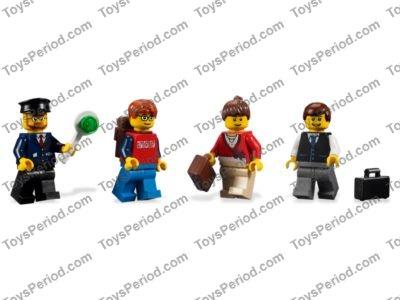 Lego X5 New Black Town Vest W// striped Tie Pattern,white Arms Mini Figures Torso