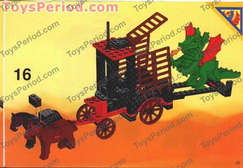 LEGO 6056 Dragon Wagon Classic 1993 Castle Knights Cart Set