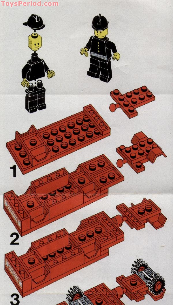 Lego 672 Fire Engine Set Parts Inventory And Instructions Lego