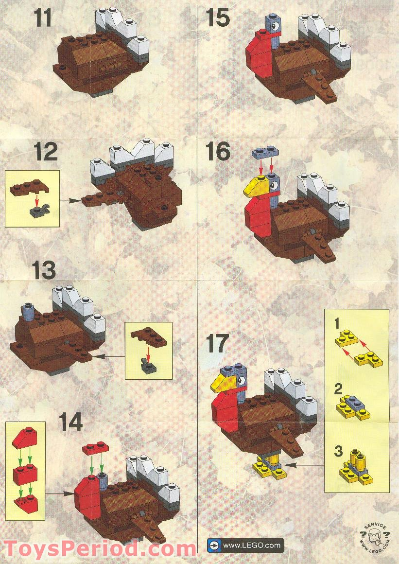 Lego 10090 Turkey Set Parts Inventory And Instructions