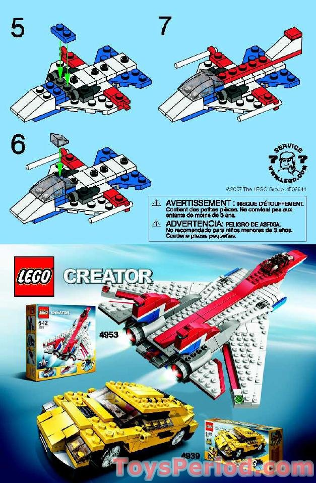 Lego 7873 Airplane Set Parts Inventory And Instructions Lego