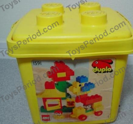 Lego 1591 2 Small Duplo Building Set In Yellow Bucket Set Parts