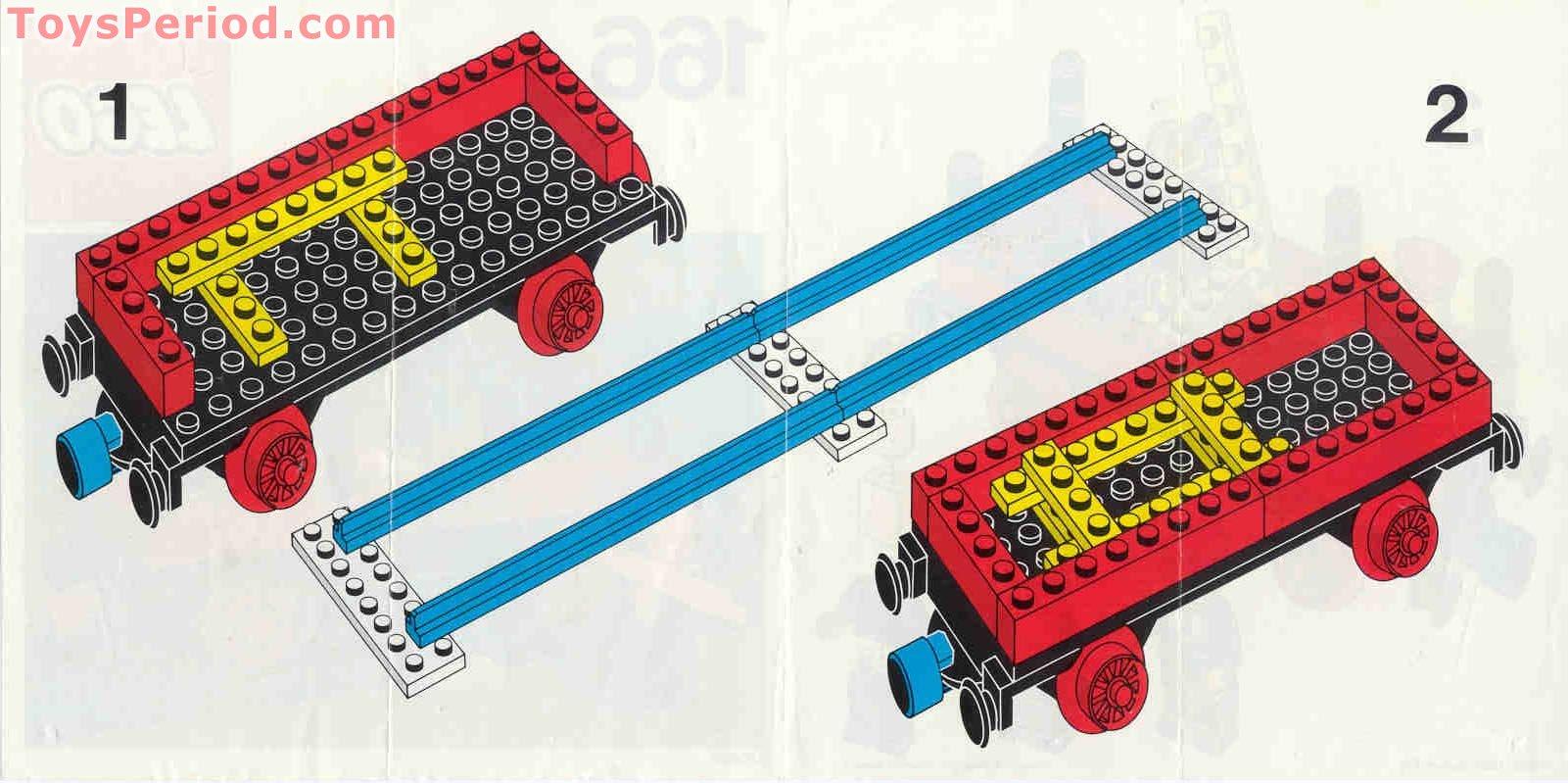 Lego 166 1 Flat Wagon Set Parts Inventory And Instructions Lego
