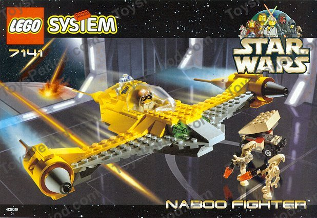 Lego 7141 Naboo Fighter Set Parts Inventory And Instructions Lego