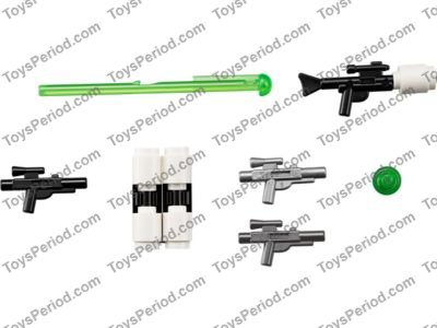 Lego 5 New Black Minifigure Weapon Guns Blasters with Recessed Studs on Sides
