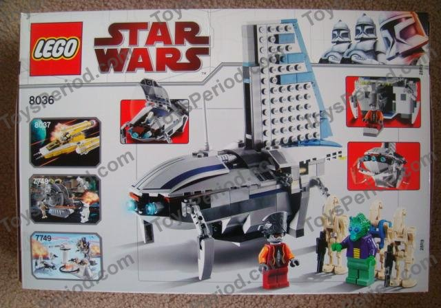 Lego 8036 Separatists Shuttle Set Parts Inventory And Instructions