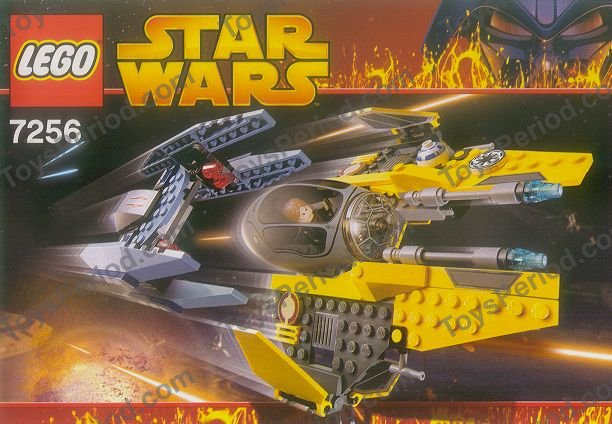 Lego 7256 Jedi Starfighter And Vulture Droid Set Parts Inventory And