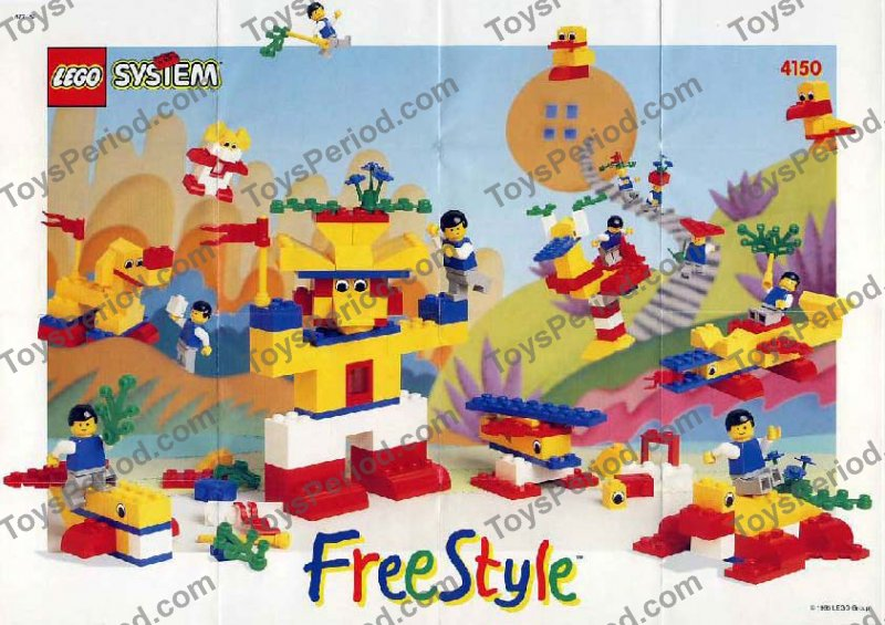 lego 4150 freestyle building set 5 plus set parts inventory and instructions lego reference guide. Black Bedroom Furniture Sets. Home Design Ideas
