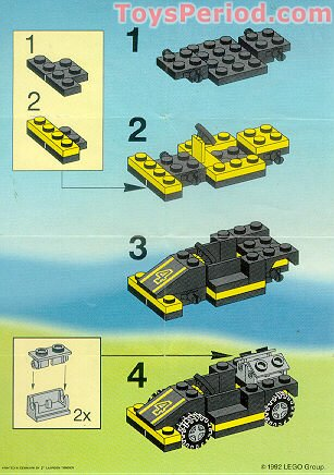 Lego 1693 Turbo Force Race Car Set Parts Inventory And Instructions