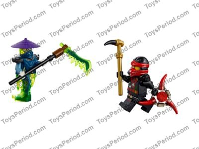 1x Minifigure Weapon Sword Marbled White 11439pb01 Trans Bright Green Lego