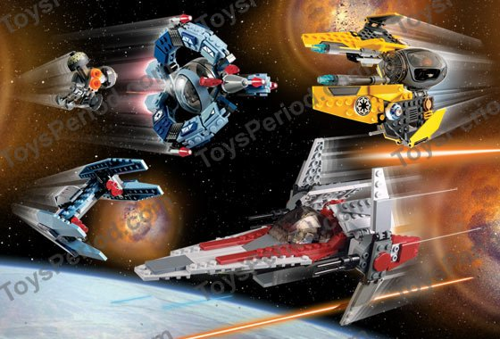 LEGO K7283 V-Wing Space Battle Collection Set Parts Inventory and Instructions - LEGO Reference ...