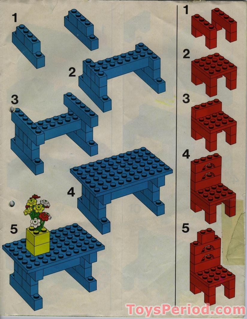 Lego 540 1 Basic Building Set Set Parts Inventory And