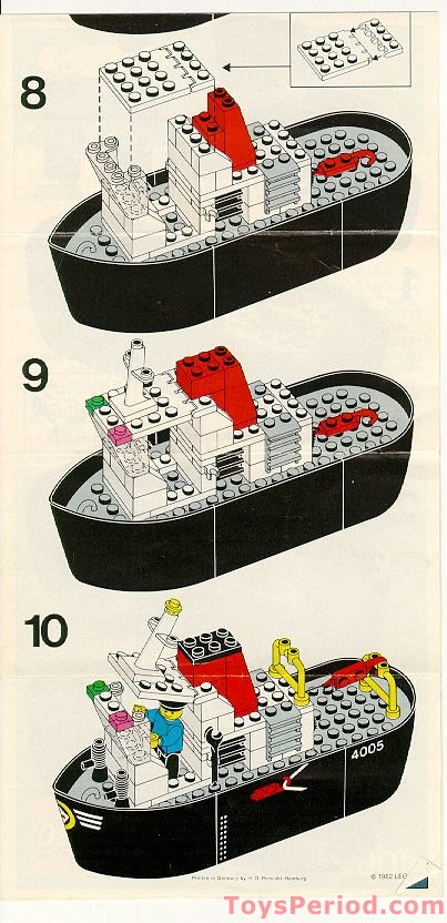 Lego 4005 Tug Boat Set Parts Inventory And Instructions Lego Reference Guide