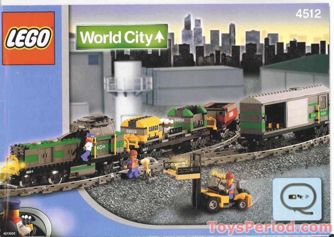 Lego City Red Cargo Train Speed Build