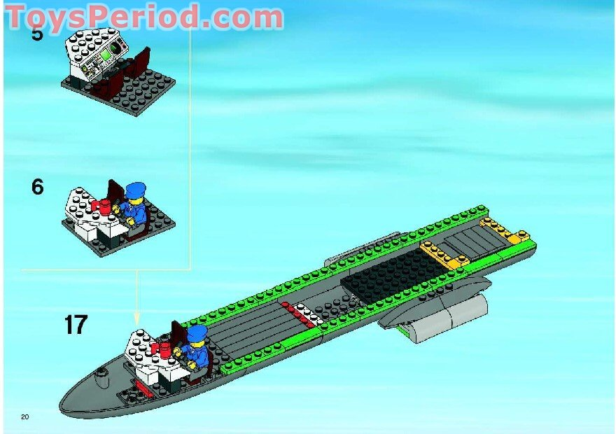 LEGO 7734 Cargo Plane Set Parts Inventory and Instructions - LEGO Reference Guide