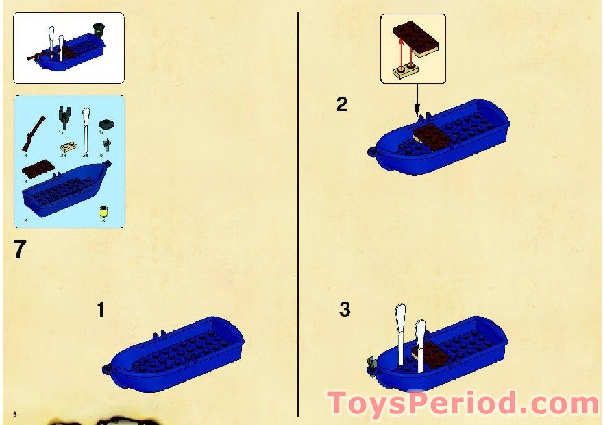 Lego 6243 Brickbeards Bounty Set Parts Inventory And Instructions